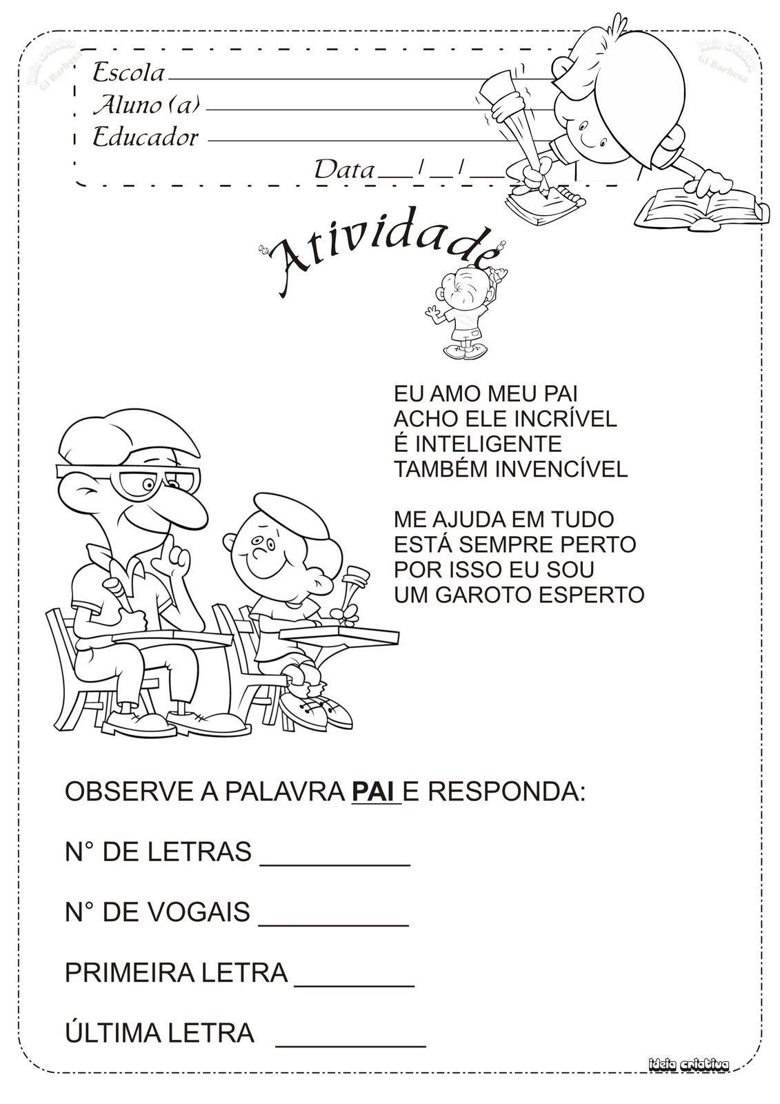 Resultado De Imagem Para Poesia Nome Educacao Infantil