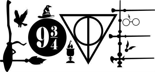 Download Harry Potter Symbols Love vinyl decal sticker. - For use ...