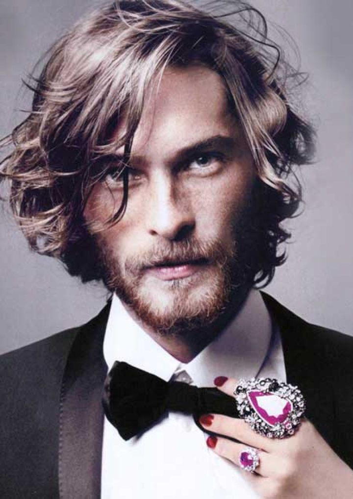 Mens long wavy hairstyle 2015 Hair and Beard Styles