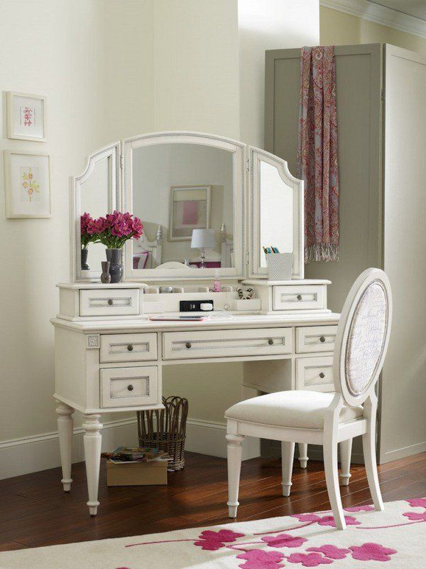 Vanity Table With Tri Fold Mirror Design Ideas S Bedroom Furniture