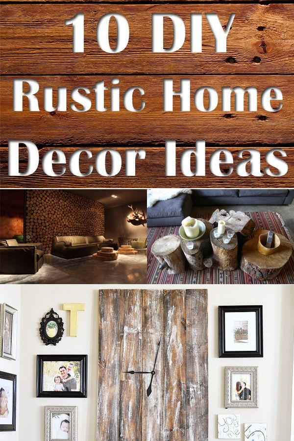 10 DIY Rustic Home Decor Ideas Rustic hardware