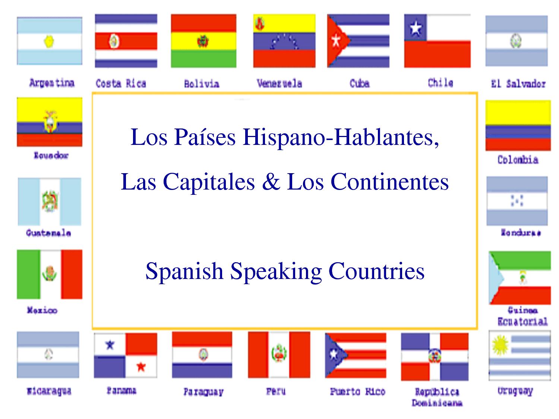 Banderas De Paises Hispanohablantes