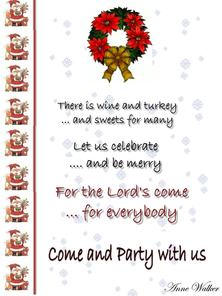 Funny Christmas Invitation Poems ! christmas poems