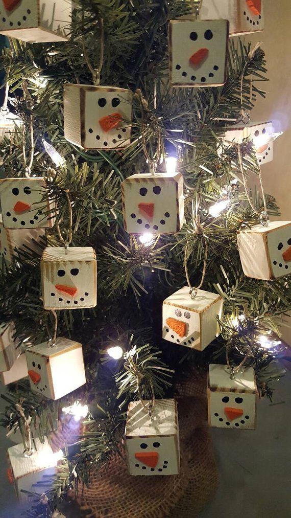 Christmas Ornaments Primitive Snowman Snowmen Snow