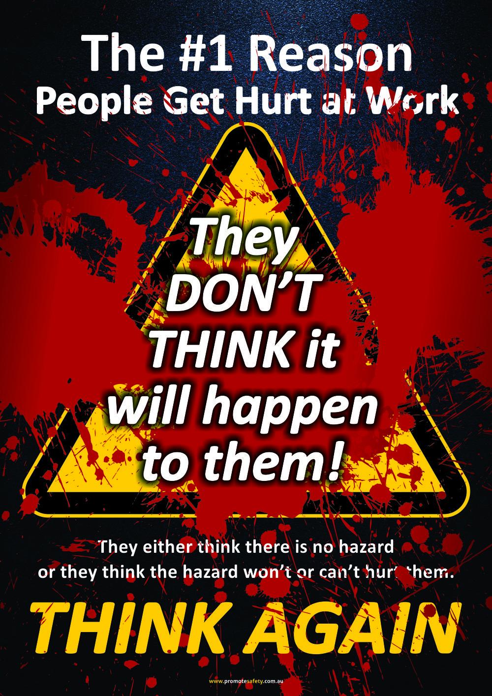 A3 Size Workplace Safety Poster encouraging workers to