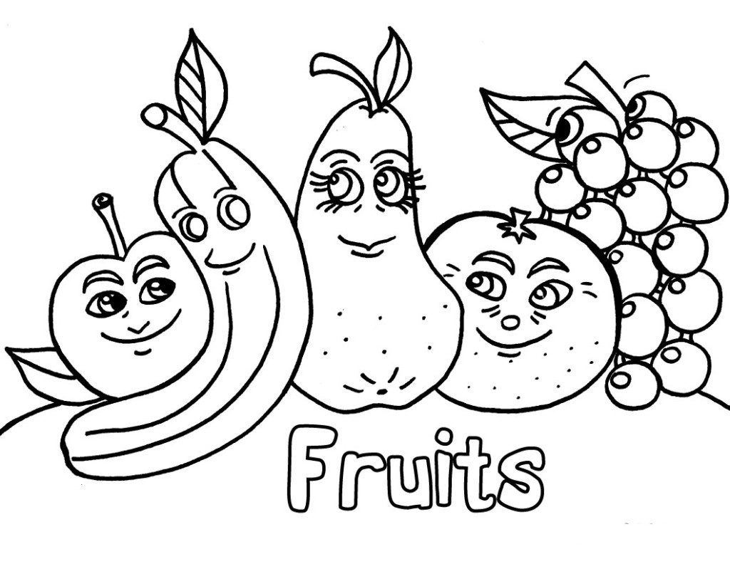 Fruit Salad Coloring Page