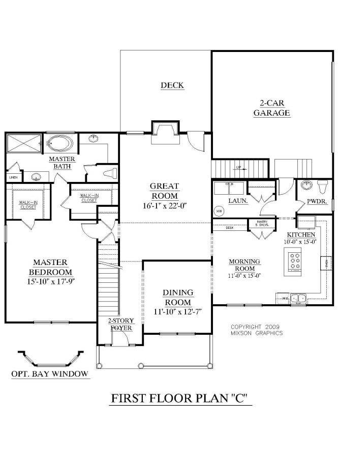 House Plan 2675 C Longcreek First Floor Traditional 2 Story