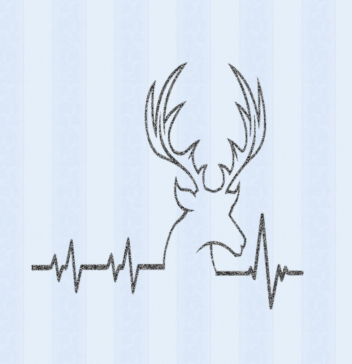 Deer SVG Cutting File, Hunting Svg Heartbeat Buck Svg, Png
