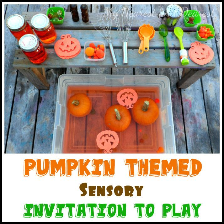 Pumpkin Themed Sensory Invitation to Play from My Nearest