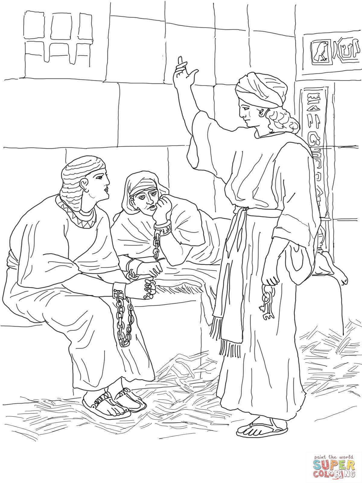 3 Joseph In Prison Coloring Page Pixels