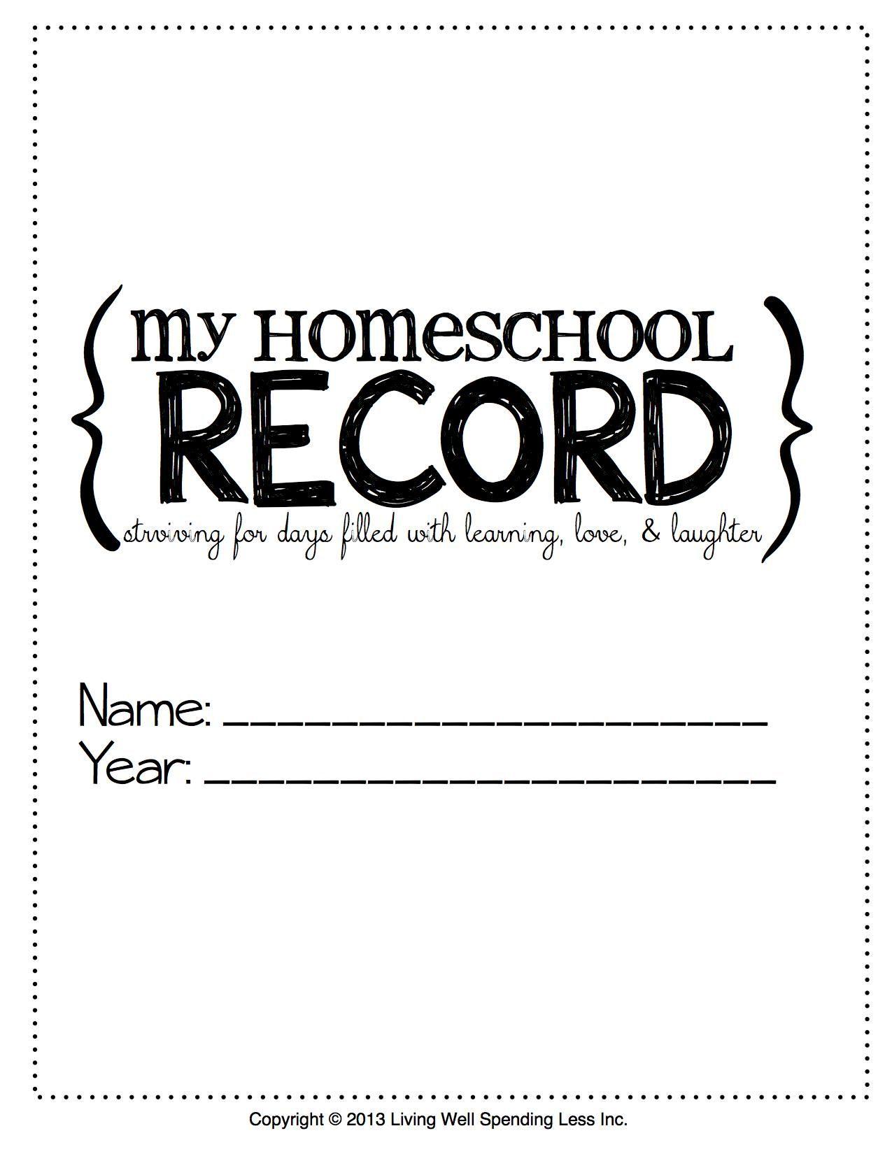 Free Printable Homeschool Student Binder Cover 1 275