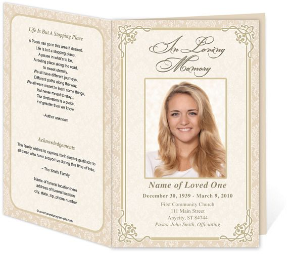 Template For Memorial Service memorial cards templates funeral – Memorial Service Template Word