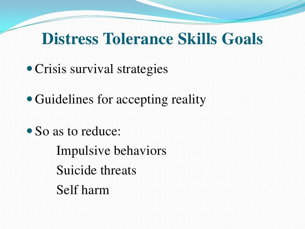 Dbt Goals Of Distresstolerance