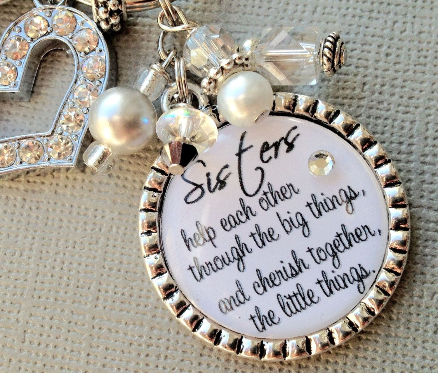 SISTER gift PERSONALIZED wedding quote birthday gift maid