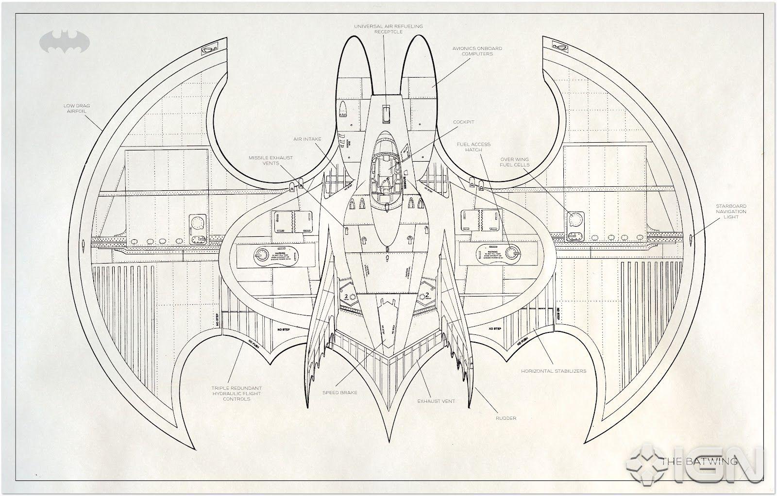 The Dork Review Rob S Room More Batman Blueprints