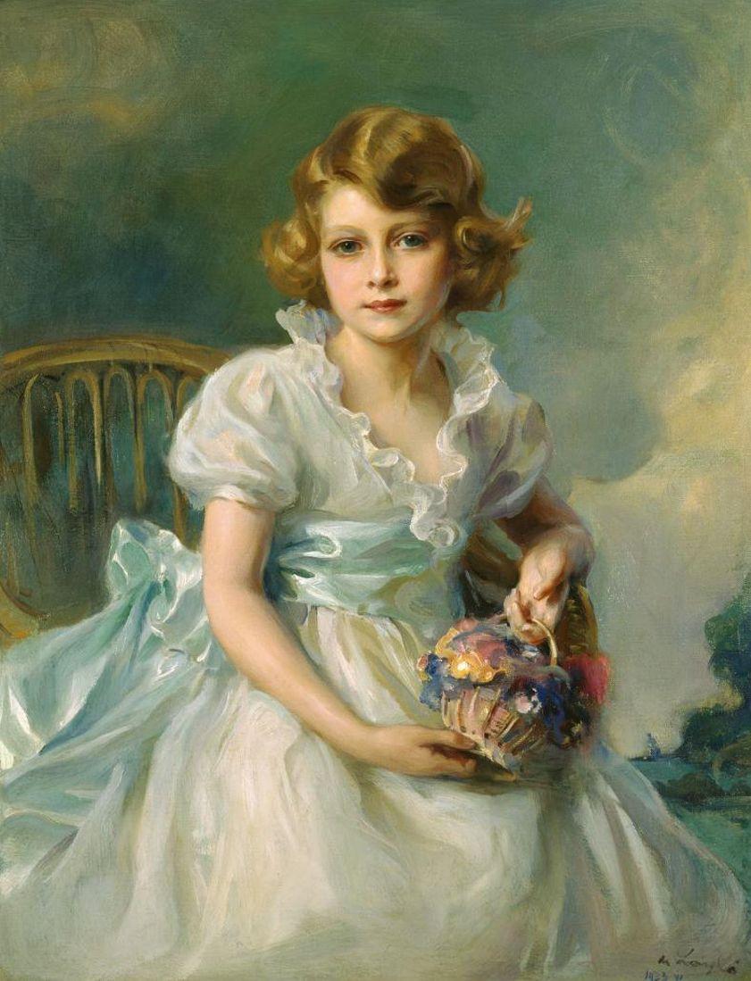Queen Elizabeth II at age 7 by Philip de Laszlo ART