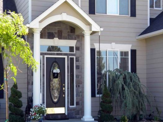 Ideas Various Design And Style Of The Front Door Colors For Gray House Color Schemes Homes How To Paint As Well