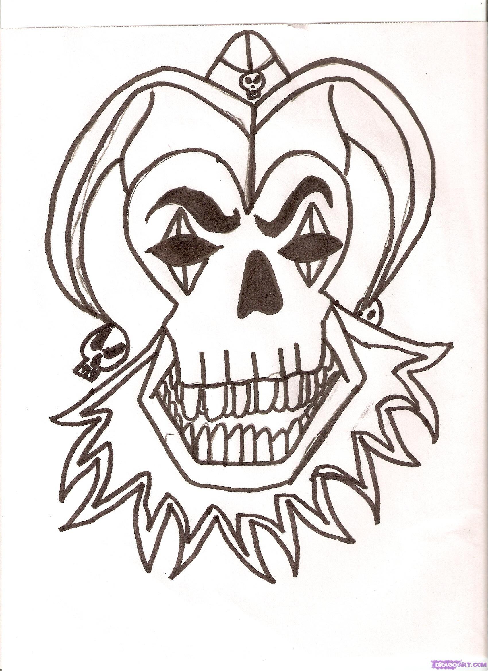 Joker Jester Tattoo Designs Jester Skull Tattoo Design Nam