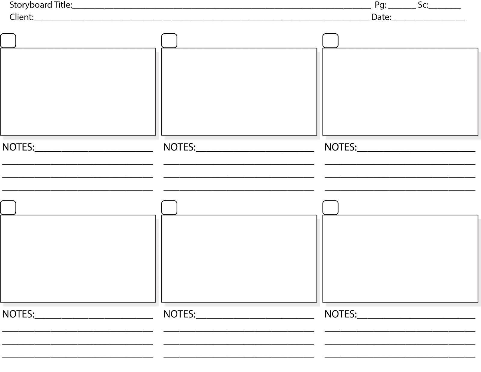Storyboard Template Print Storyboard Tem