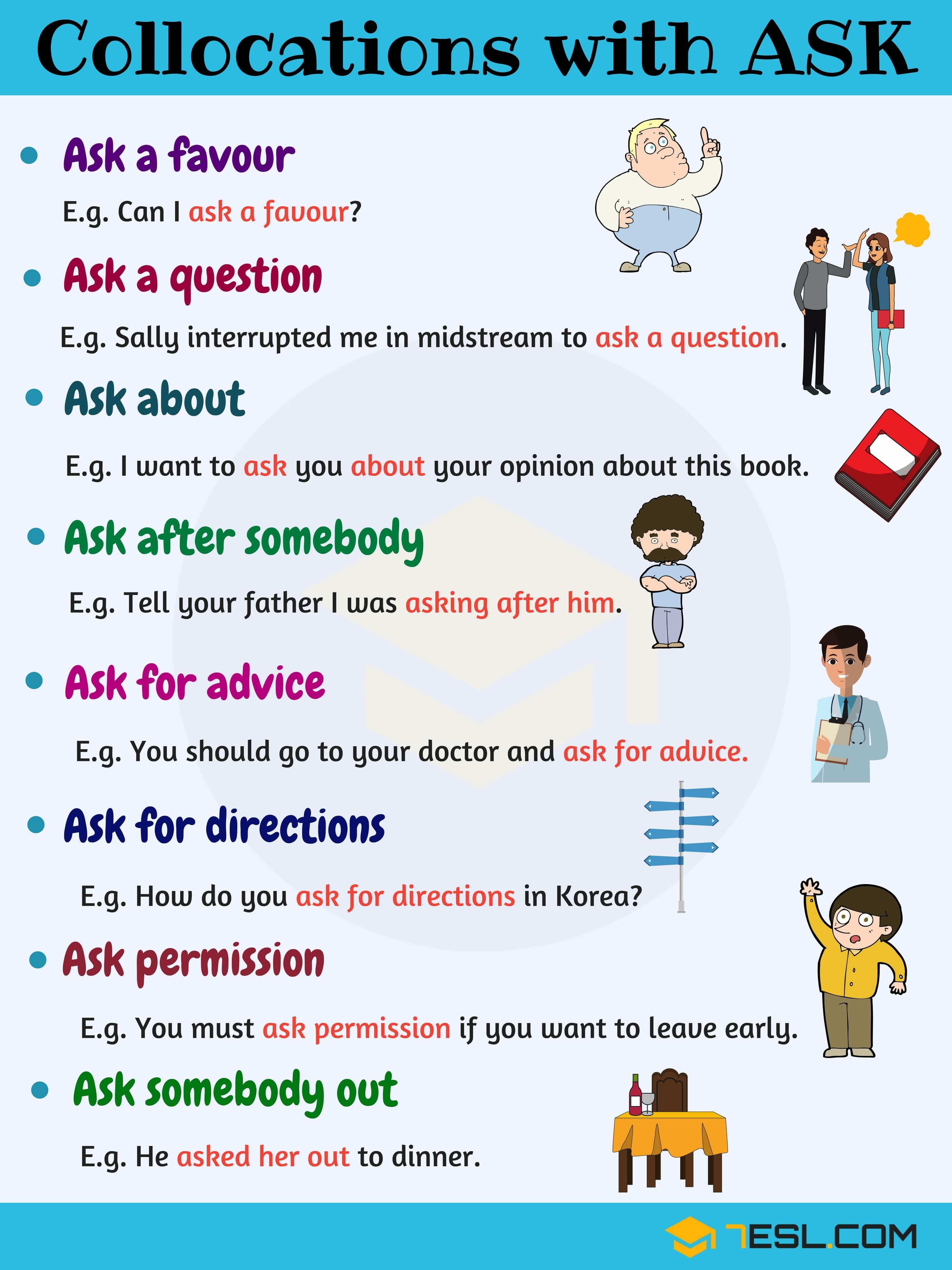 10 Useful Collocations With Ask