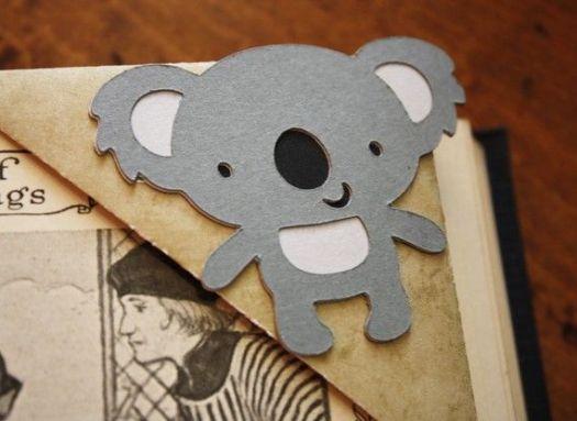 Koala Origami Corner Bookmark Australia