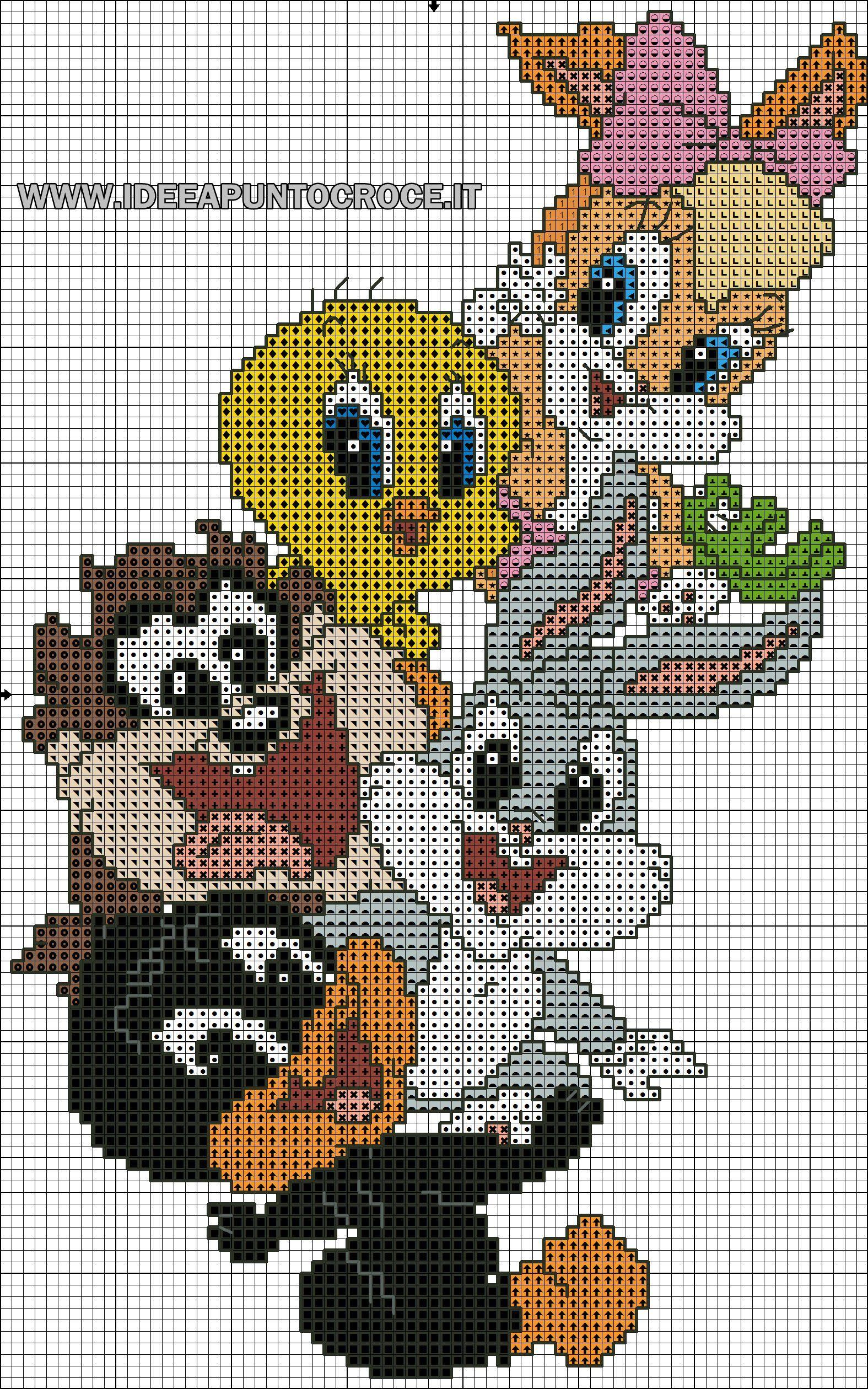 Schema Baby Looney Tunes Punto Croce