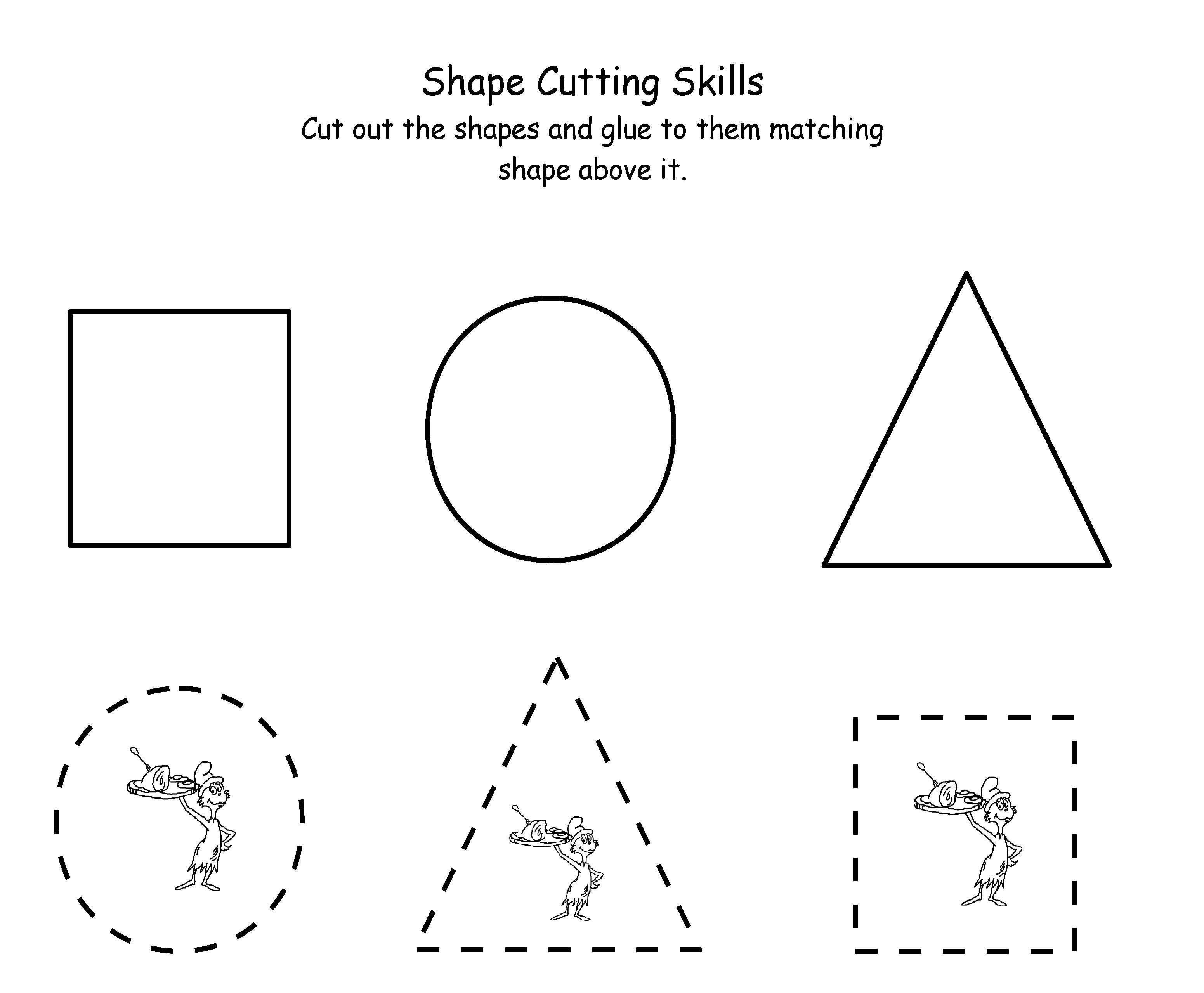 Printable Dr Seuss Cutting