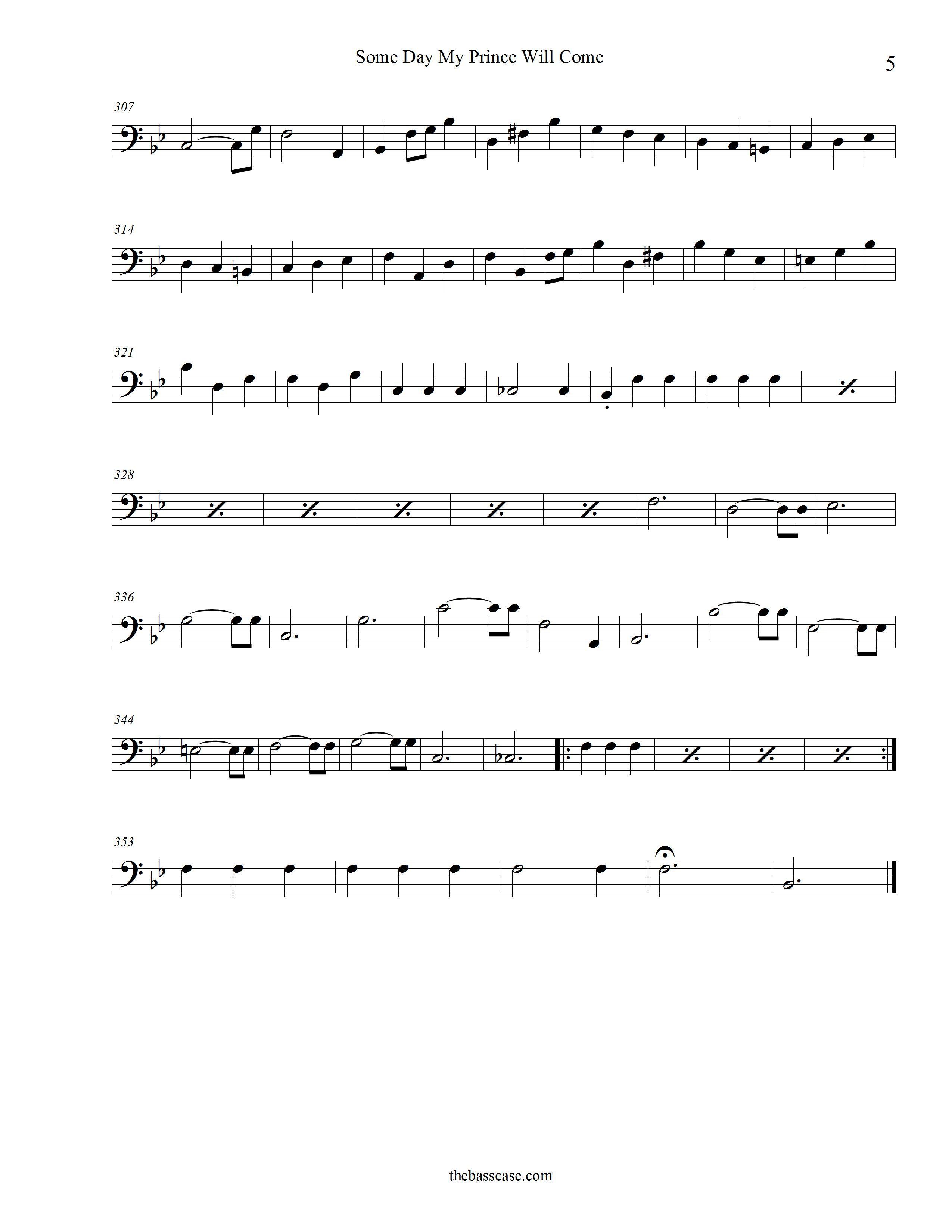 Beginning Bass Clef Songs