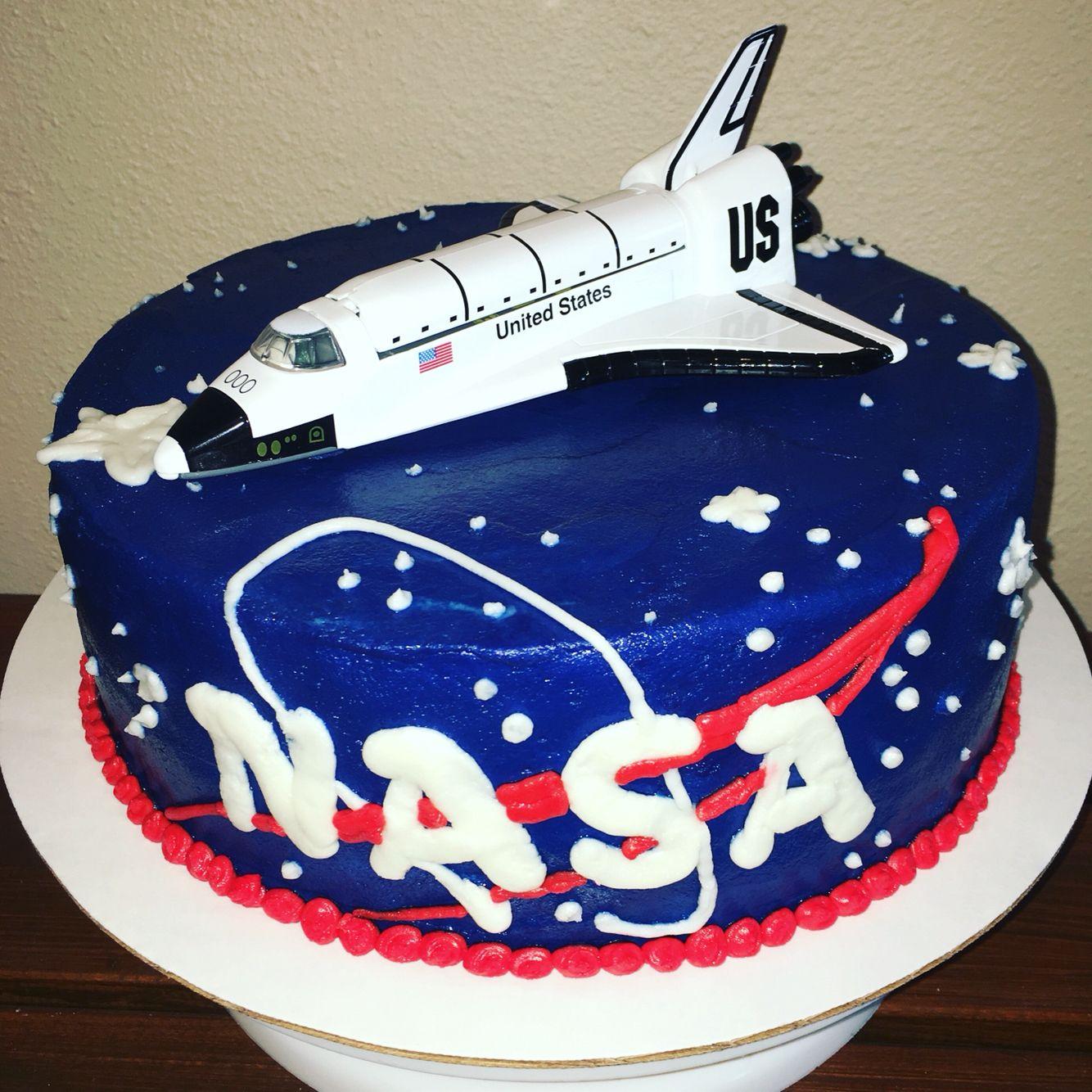 NASA space shuttle birthday cake Cakes by Kari