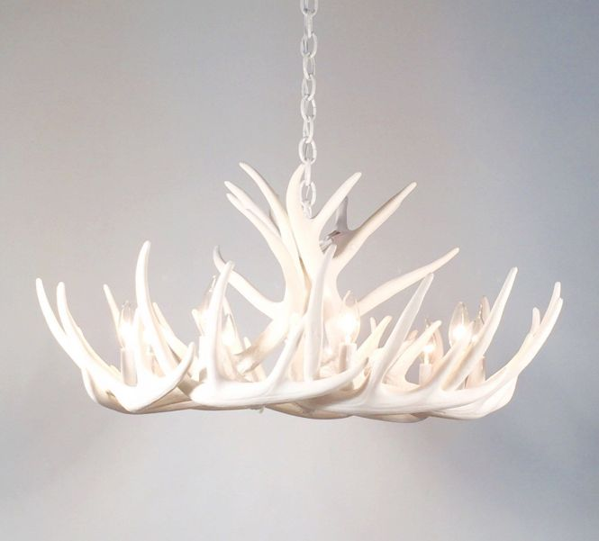This Is An All White Antler Chandelier Made With Faux Reproduction Antlers Description From Etsy