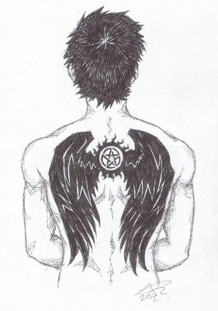 Castiel antipossession symbol tattoo fanart