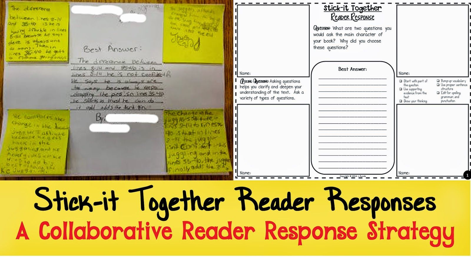 Reading Response Middle School