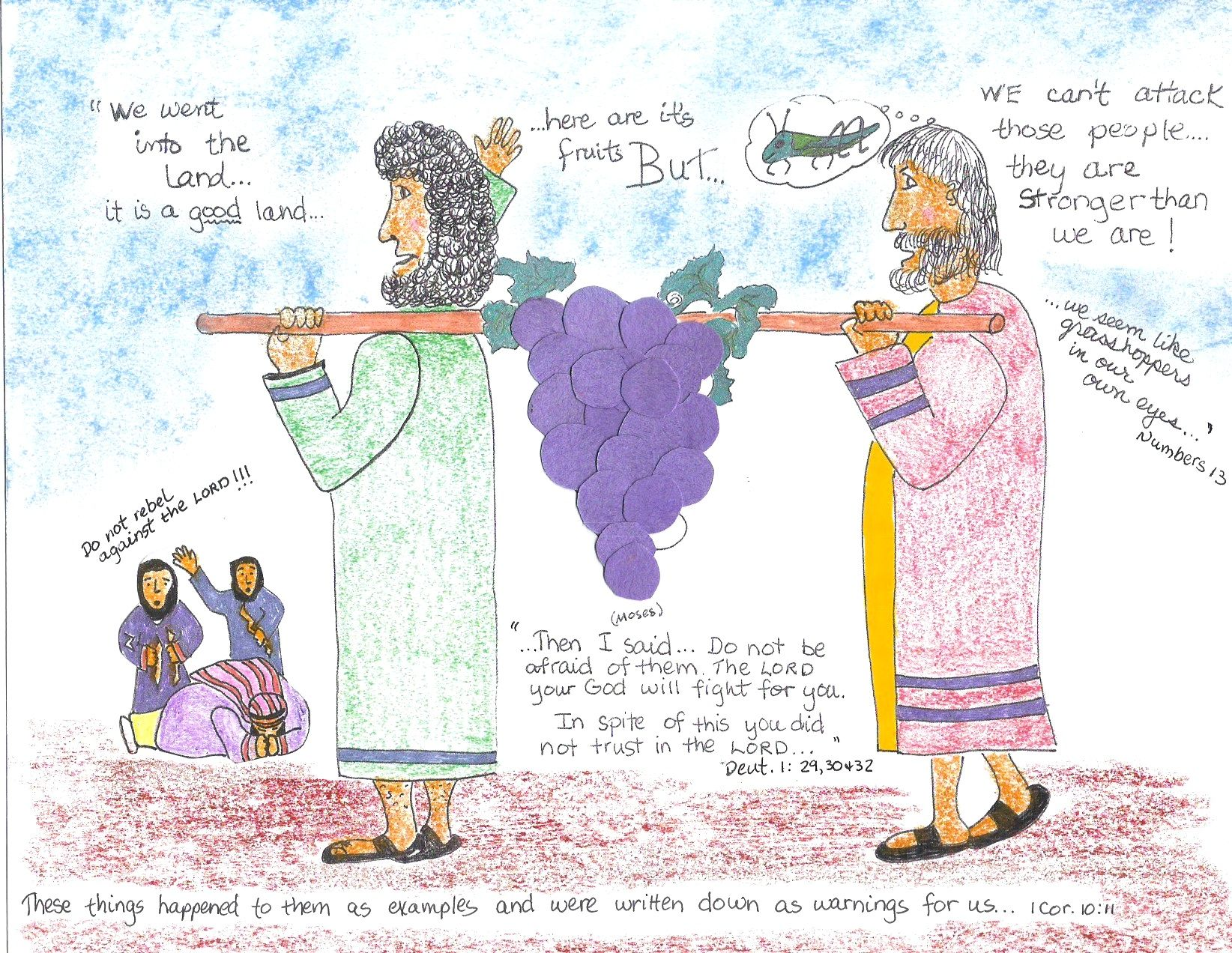 Easy Crafts For Bible Stories Of The 12 Spies