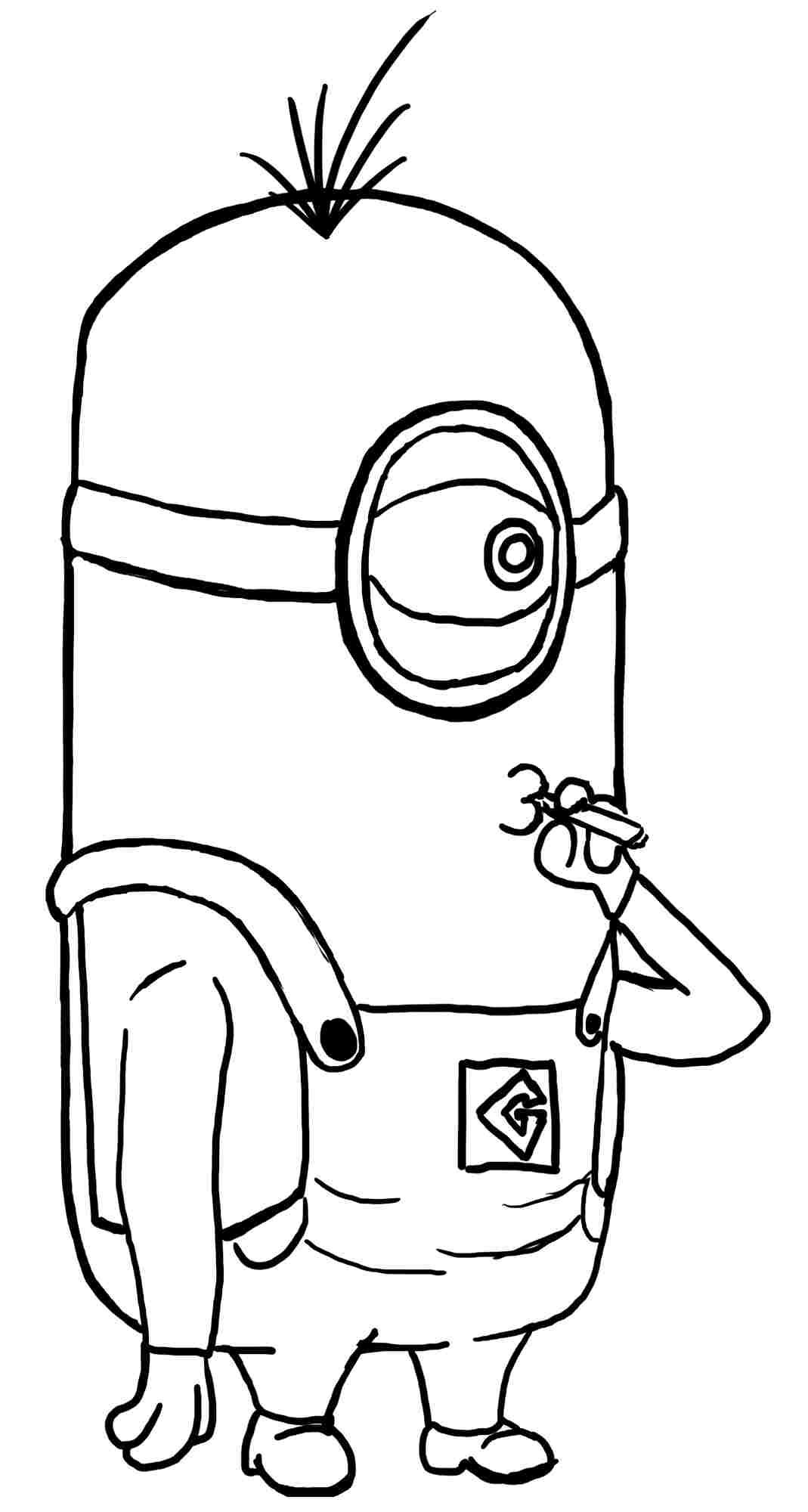 Coloring Pages Despicable Me Minion Anime Movie Printable