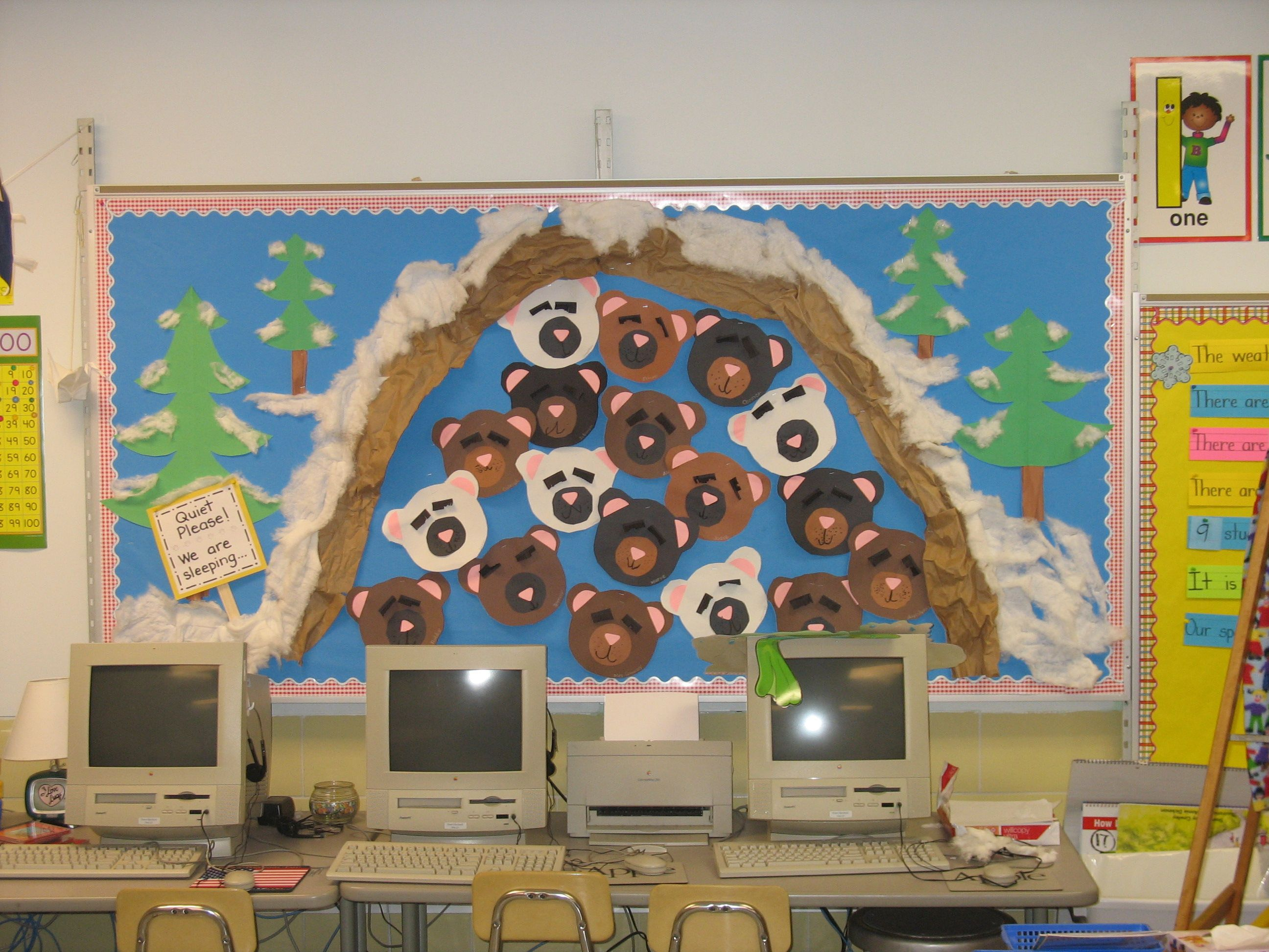 Hibernation Bulletin Board Great To Use With Bear Snores