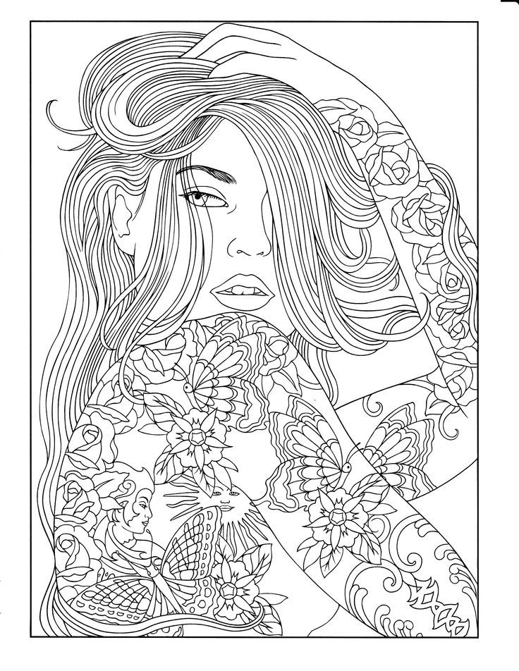 Body Art Tattoo Designs Coloring Book Zentangles