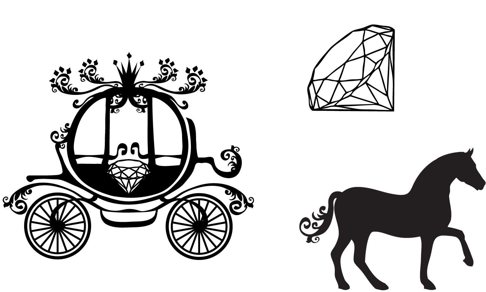 cinderella vector carriage Google Search DDMM Icon