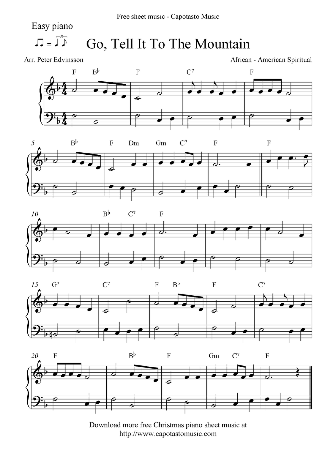 Free Printable Piano Sheet Music