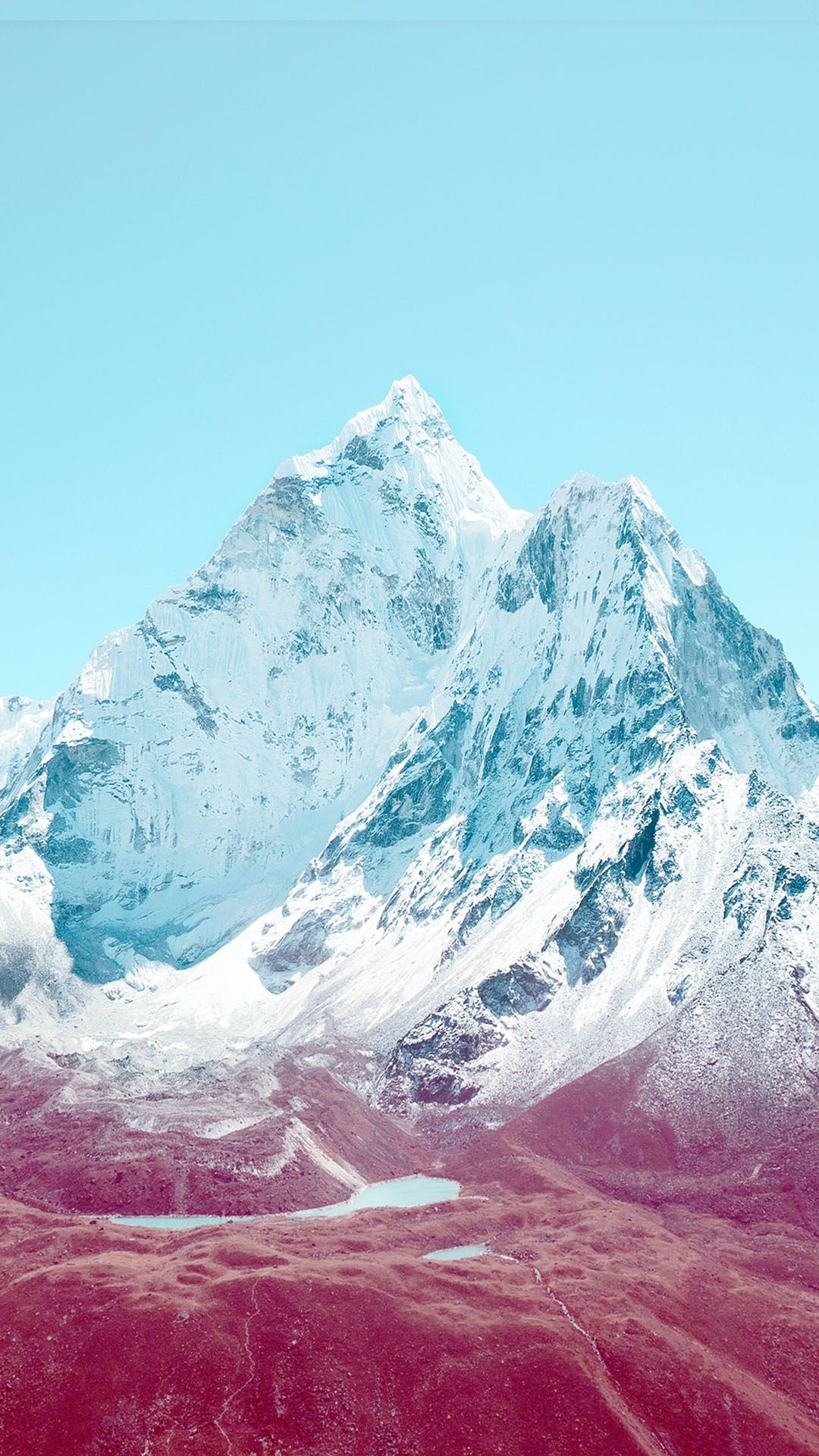 apple ios7 stock lock screen mountains android wallpaper (1080