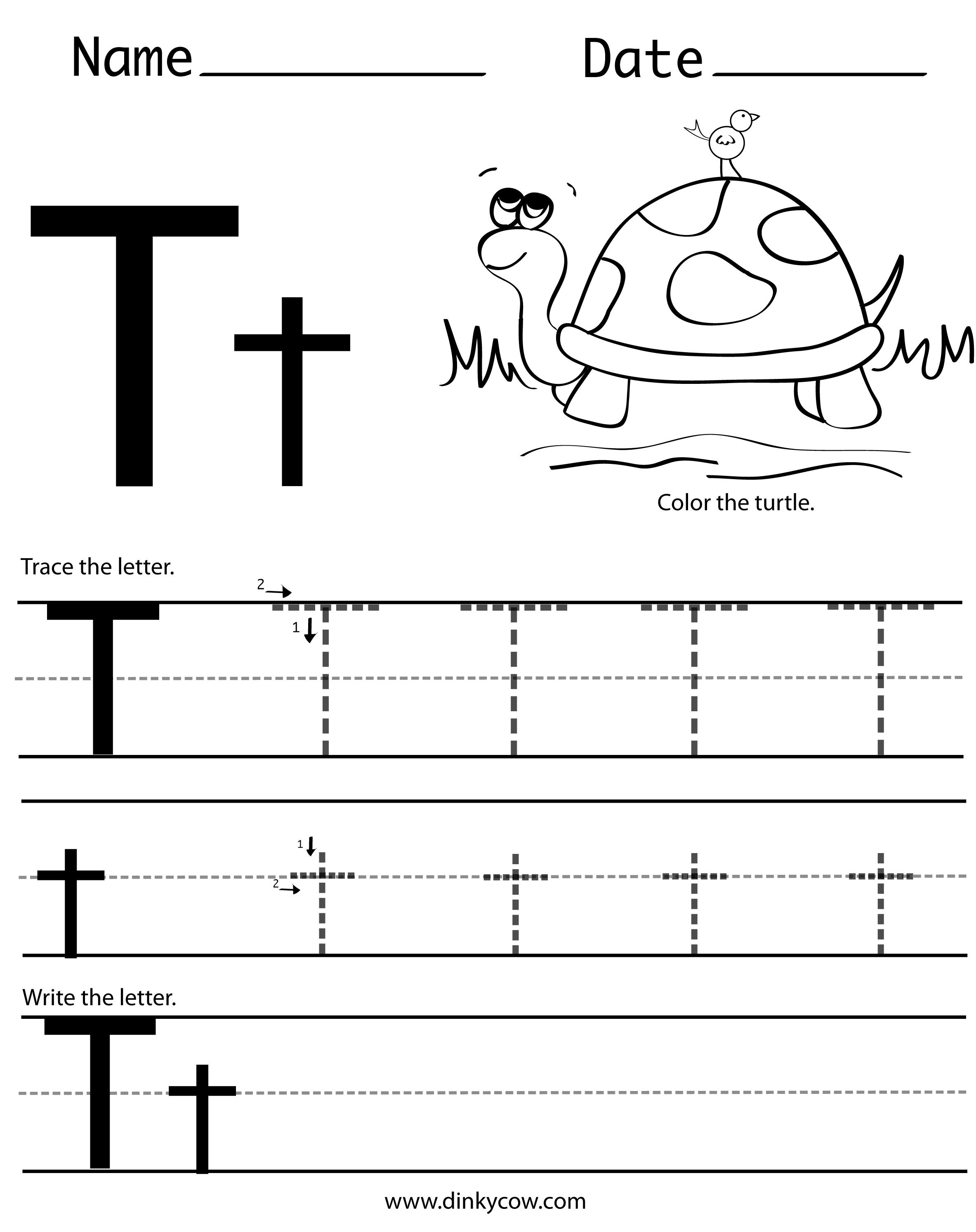 T Free Handwriting Worksheet Print 2 366 2 988 Pixels