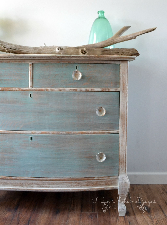 beachy wood plank dresser, helen nichole designs, milk
