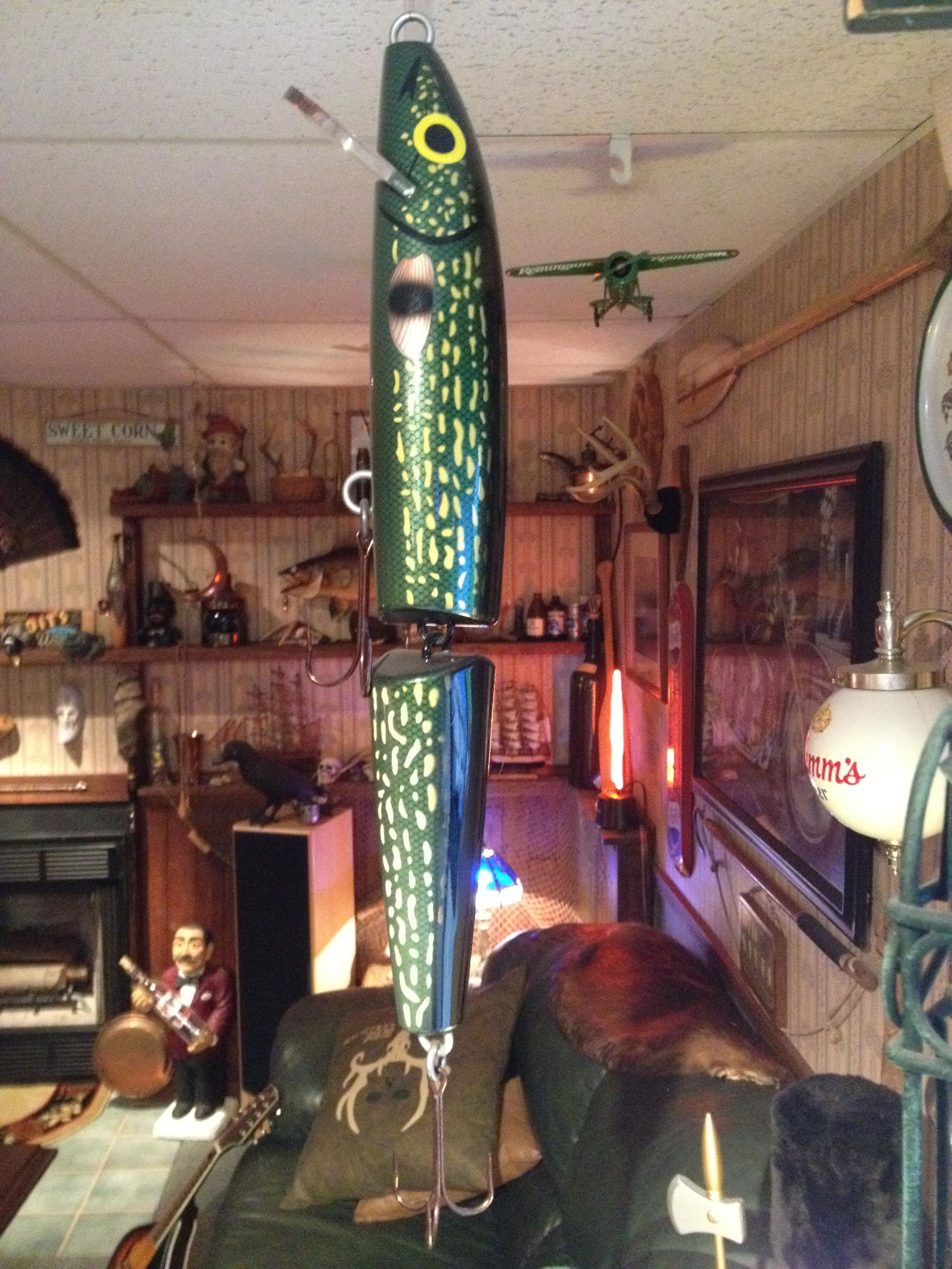Giant Rapala lure 60.00 Man cave items and oddities