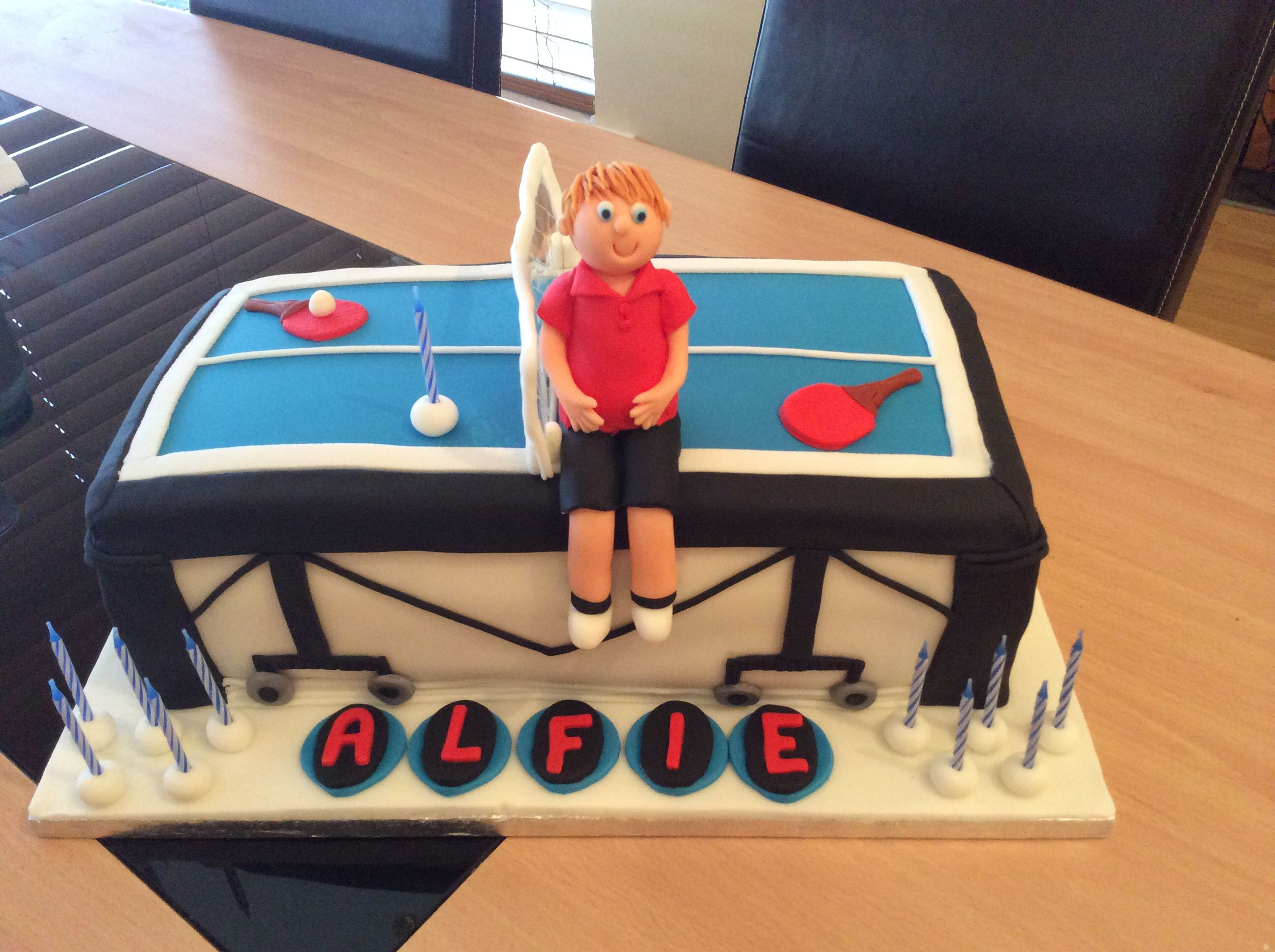 Table Tennis Cake By Tracey Davies Cakes