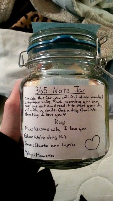365 note jar gift for boyfriend www.ladiesbliss.com