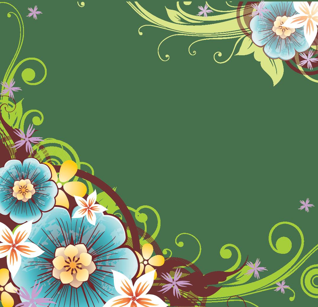 Flower Vector Png Flower border png Patterns Pinterest