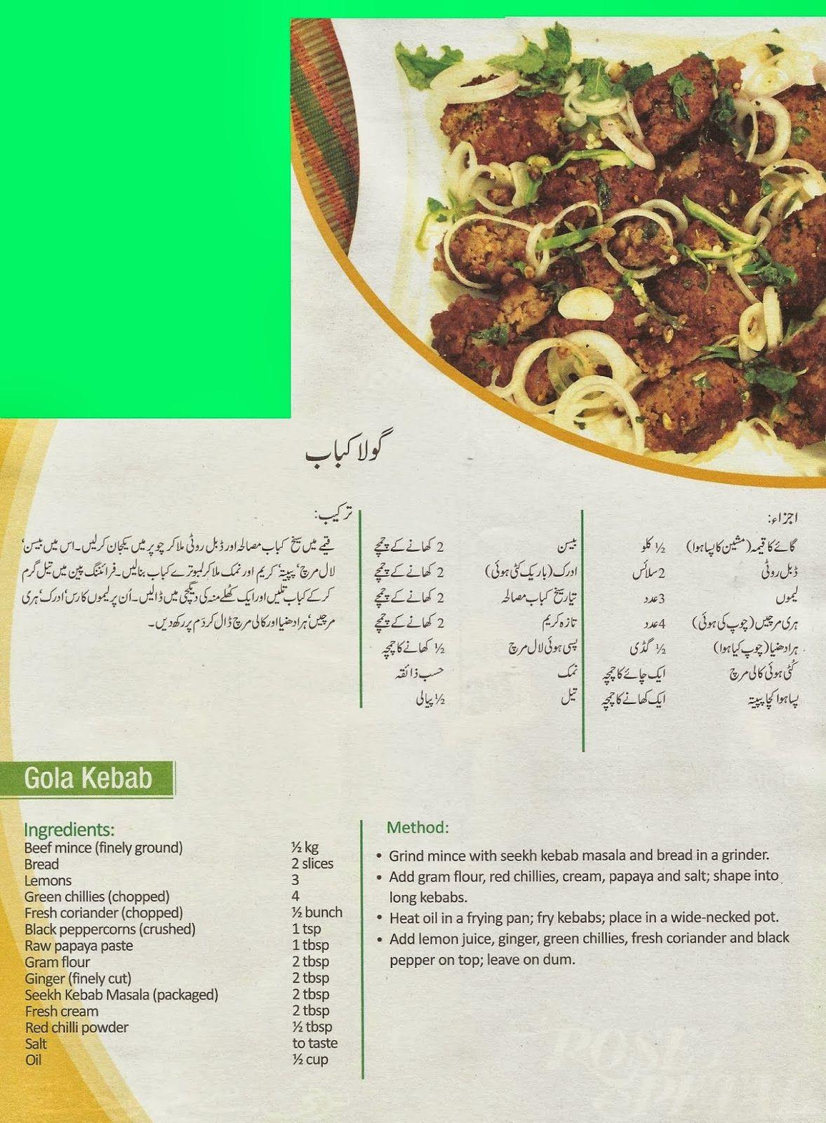 Goola Kabab Food & Food Pinterest Pakistani
