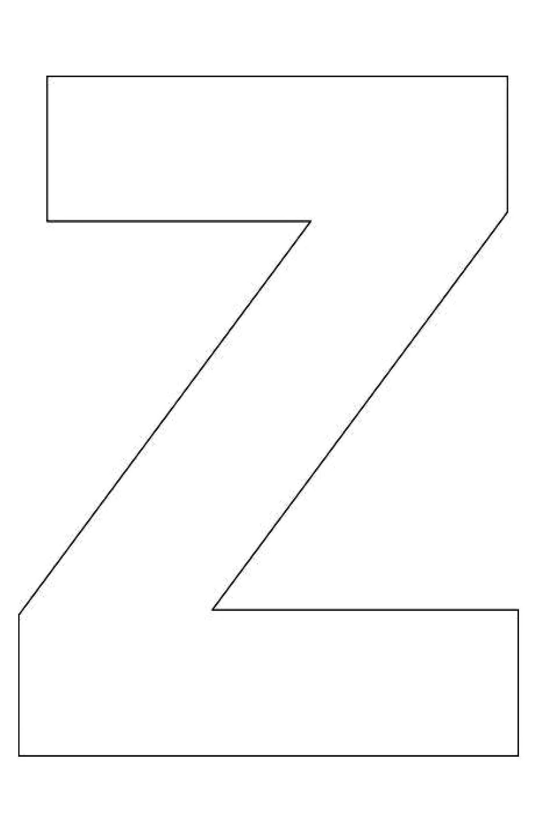Alphabet Z Coloring Pages