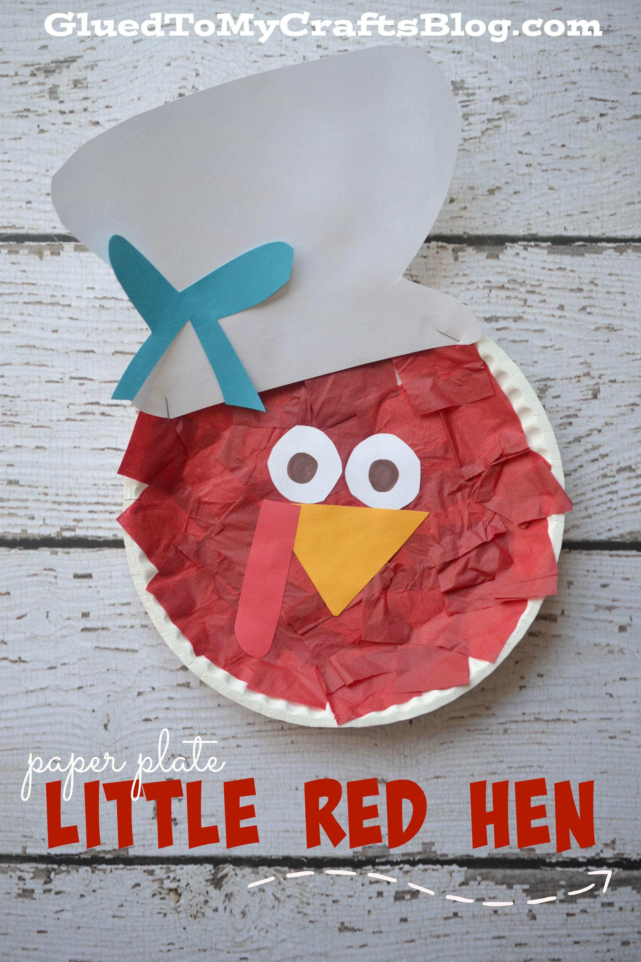 Paper Plate Little Red Hen Kid Craft