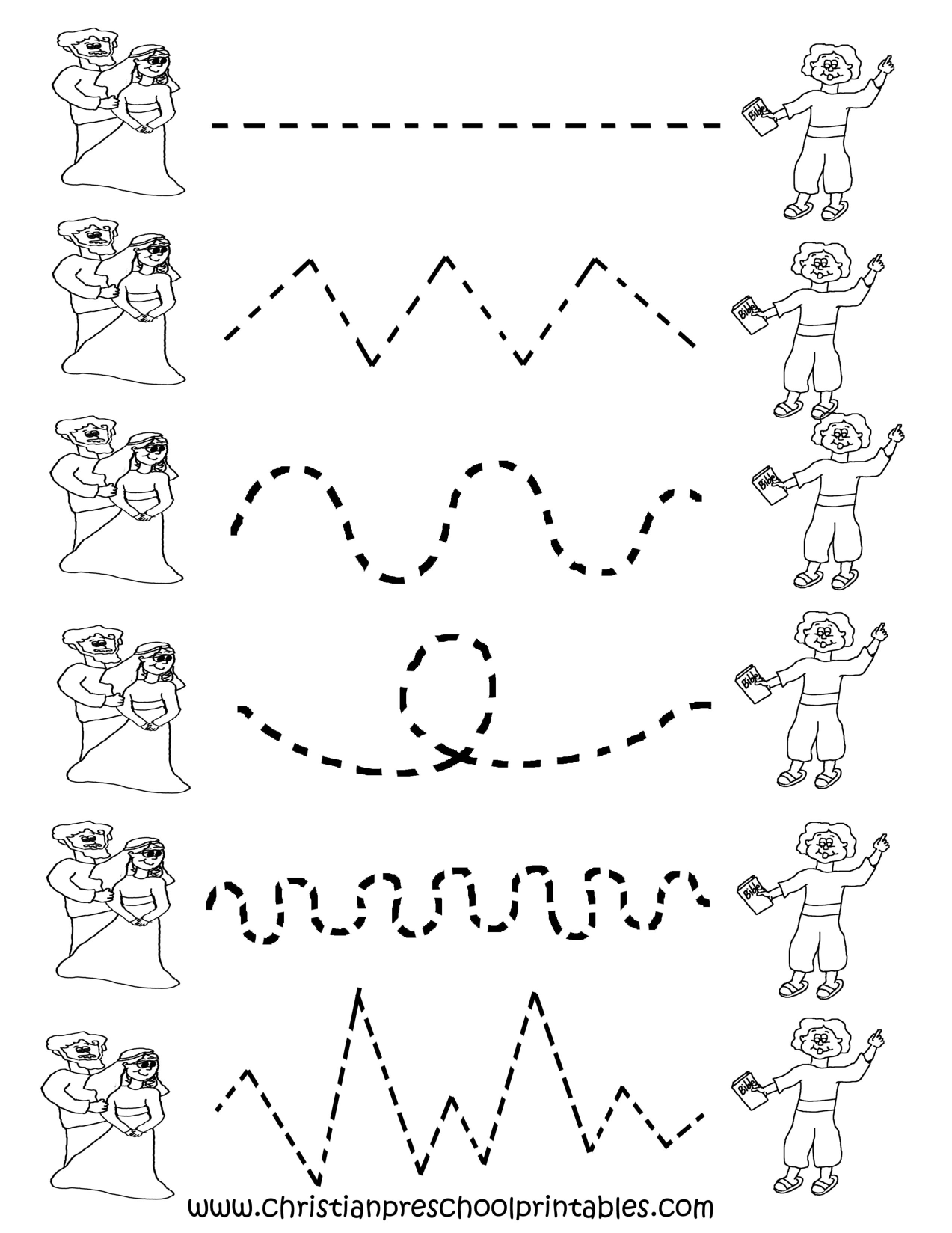 Preschool Tracing Worksheets Cakepins