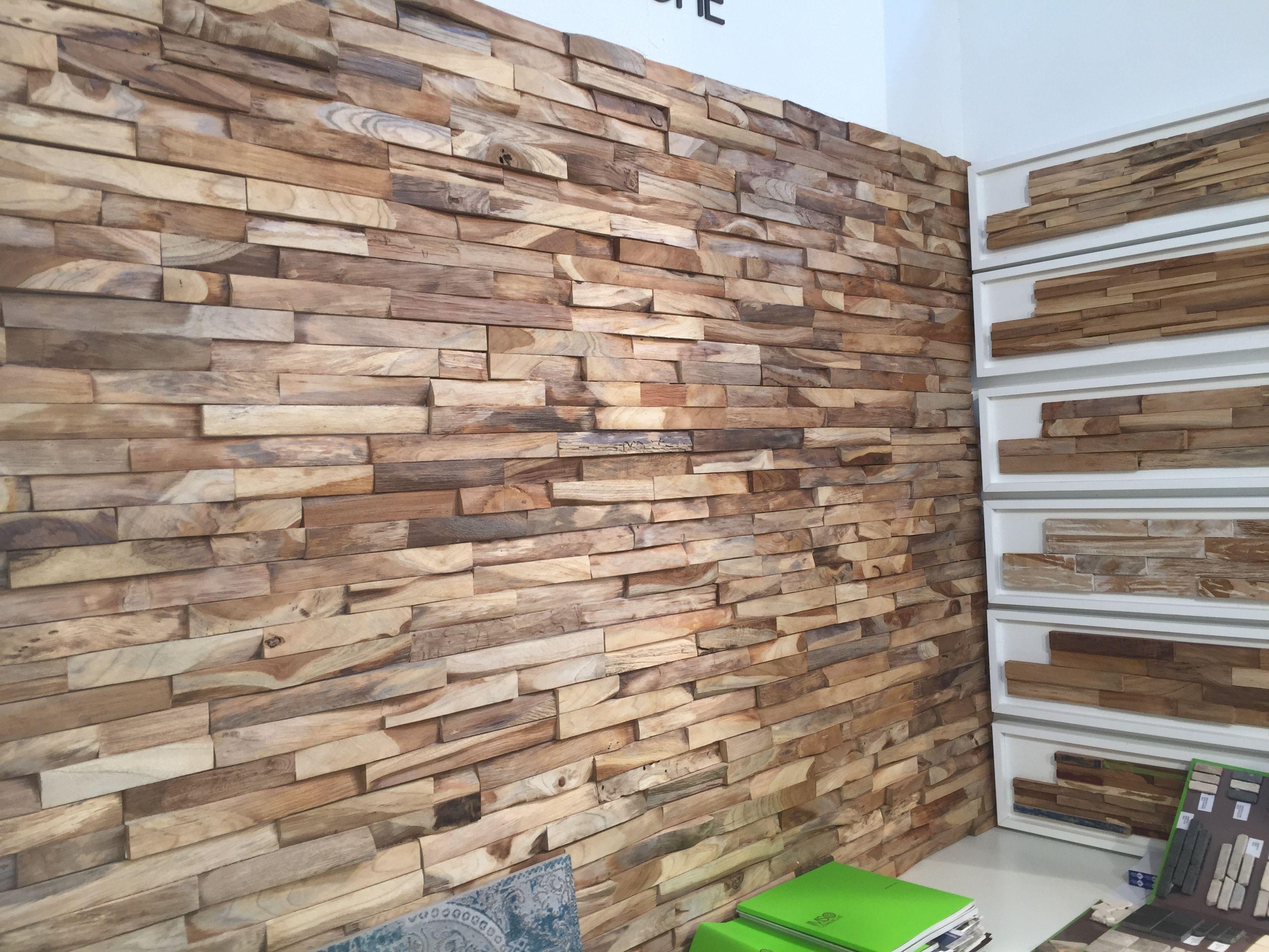 Knappe houtstrips voor op de muur. Nieuwigheden 2016